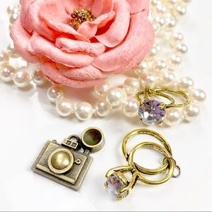 Other - Memories charm camera & ring for planner jewelry
